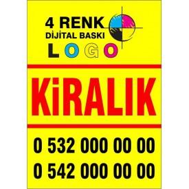 50x70 cmSATILIK - KİRALIK Emlakçı afişi