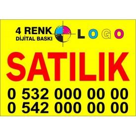 100x150 cm SATILIK - KİRALIK Emlakçı afişi